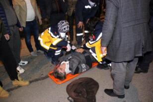 Bariyerlere çarpıp takla atan otomobil metrelerce ters sürüklendi: 1 yaralı