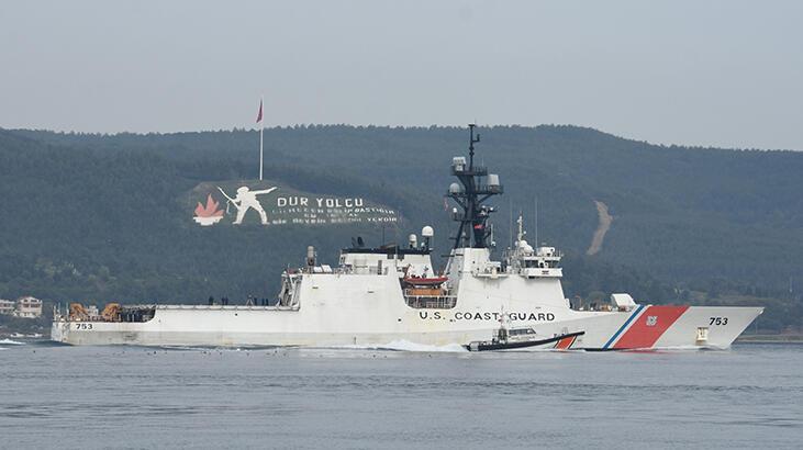 ABD Sahil Güvenlik gemisi, Çanakkale Boğazı'ndan geçti