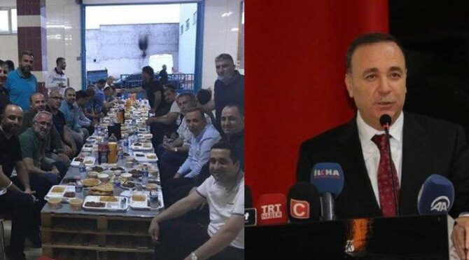 AKP'li vekilin toplu iftara katılması tepki çekti