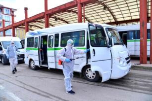 Ankara da araçlar ücretsiz dezenfekte ediliyor