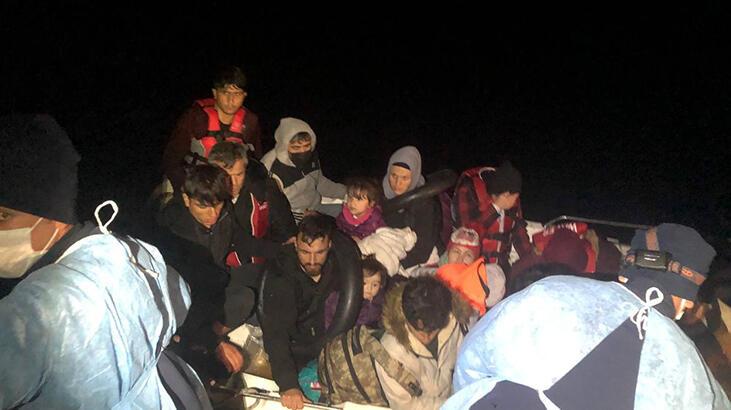 Ayvacık açıklarında fiber teknedeki 18 kaçak göçmen kurtarıldı