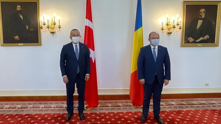 Bakan Çavuşoğlu, Rumen mevkidaşı Aurescu'yla bir araya geldi