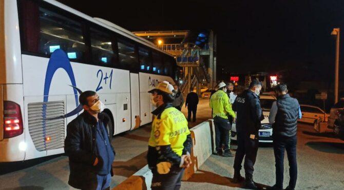 Biletsiz yolcu taşıyan otobüsteki çift, riskli grupta çıktı