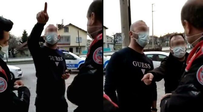 Doktor ile ilaç mümessili, polisleri Suriye'ye sürmekle tehdit etti