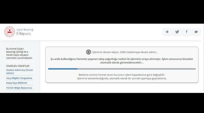 e-Devlet'te muafiyet belgesi yoğunluğu, sistem çöktü