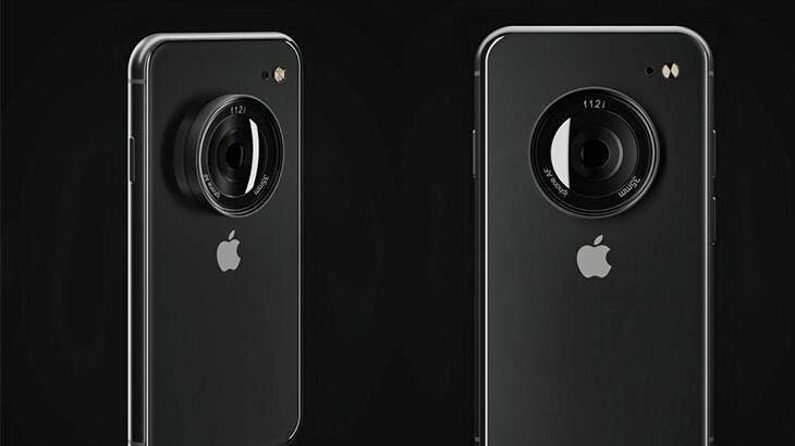 iPhone'a 'tepegöz' görünümünde tek lens eklenirse nasıl olur?