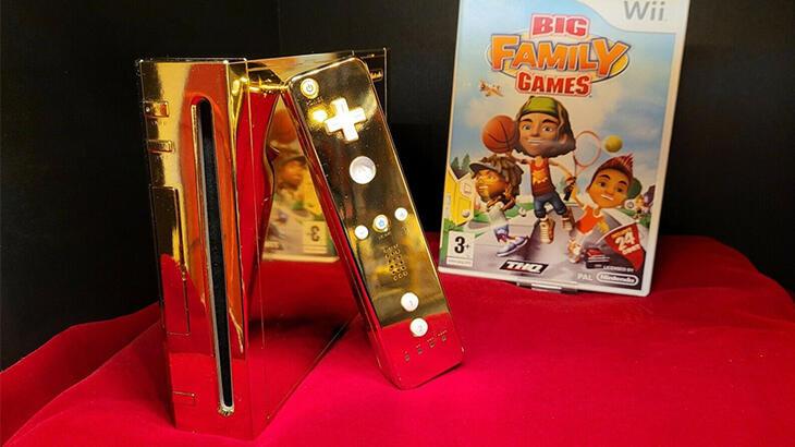 Kraliçe II. Elizabeth için tasarlanan altın kaplama Nintendo Wii satışta!