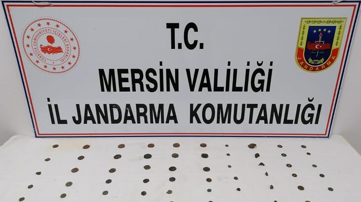 Mersin'de tarihi eser niteliğinde 56 sikke ve 7 obje ele geçirildi