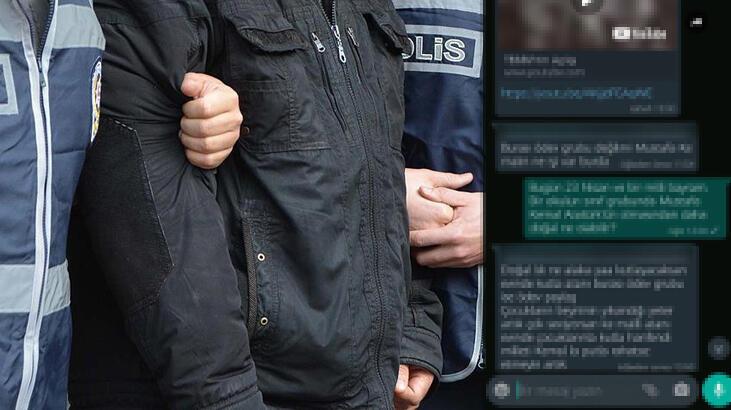 Okulun whatsapp grubunda Atatürk'e hakaret eden veli gözaltına alındı