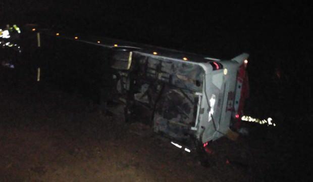 Sivas'ta otobüs kazası: Çok sayıda yaralı var