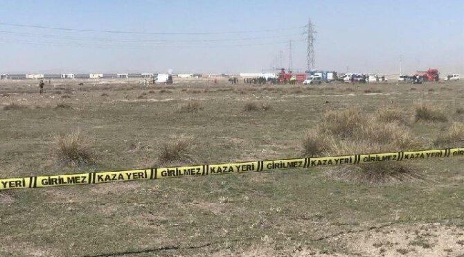 Son dakika… Konya'da askeri eğitim uçağı düştü