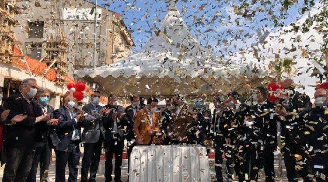 AKP'liler tam kapanma öncesi lebalep temel atma töreni yapmış