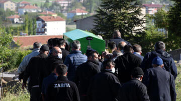 Aksaray'da baraj gölünde boğulan 2 çocuk toprağa verildi