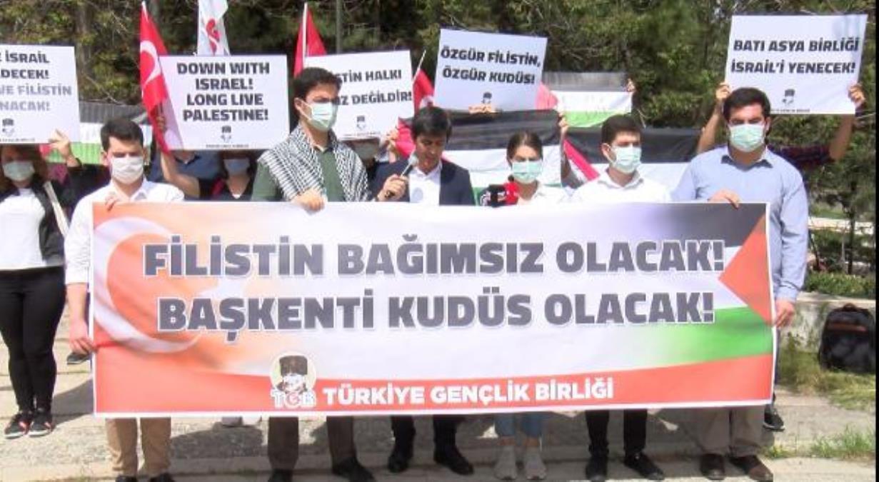 Ankara da, Mescid-i Aksa saldırısı kınandı