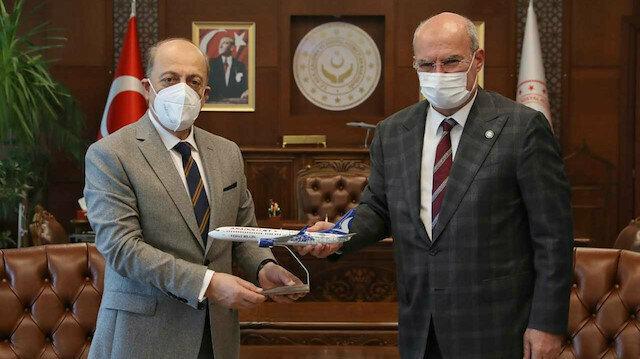 ATO heyetinden Çalışma ve Sosyal Güvenlik Bakanı Vedat Bilgin'e ziyaret