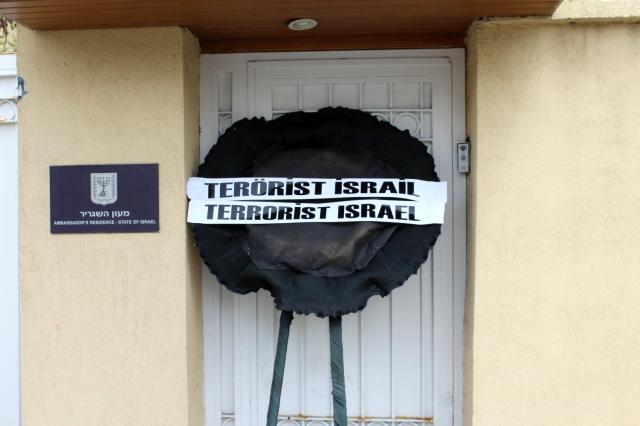 Başkent te sendikalardan ve STK lardan İsrail e tepki