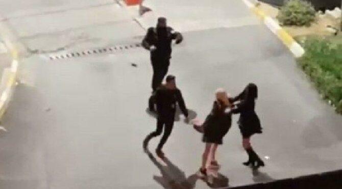 İstanbul'da lüks sitede kadınların saç başa kavgası…