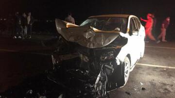 Karşı yönlerden gelen araçlar çarpıştı! 1 ölü, 4 yaralı…