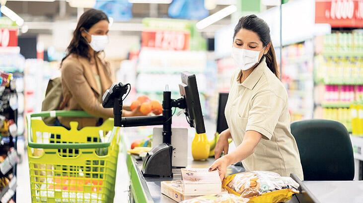 Markete pandemi ayarı