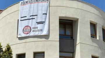 'Ölmek istemiyorum' afişi Tuba Arslan'ın öldürüldüğü kentte asıldı