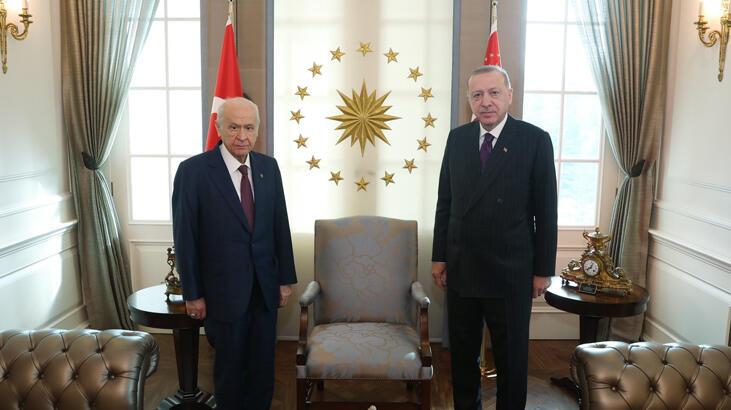Son dakika… Cumhurbaşkanı Erdoğan ile Bahçeli arasında sürpriz görüşme