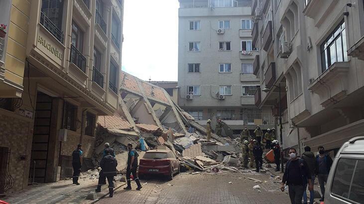 Son dakika haberi… Zeytinburnu'nda bina çöktü