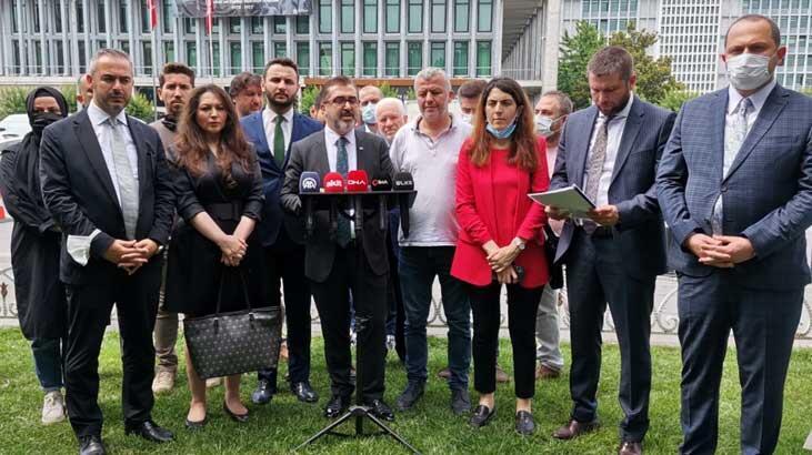 AK Parti'den İBB önünde açıklama