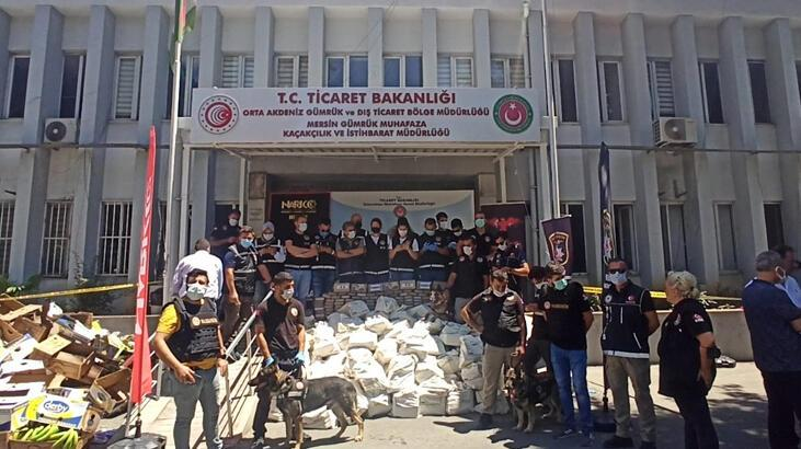 Mersin'de ele geçirilen kokain miktarı 1 ton 300 kiloya çıktı